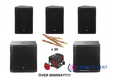 Extra Stora ljudpaketet - Inkl. allt! Ca. 8500 watt -Inkl. Utkörning