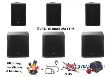 All in ljudpaketet - Över 10 000 WATT!!! - Inkl. Utkörning